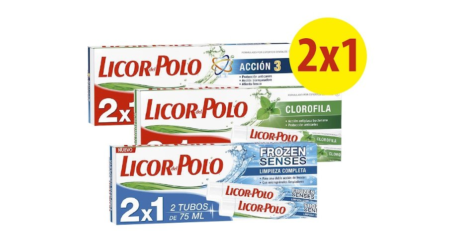 Pack 2x1 a 1.35€